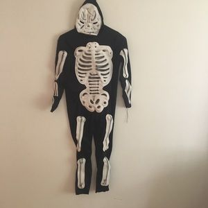 Rubies skeleton youth 8/10 costume with gloves